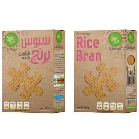 سبوس برنج فرآوری شده 200 گرمی به مالت